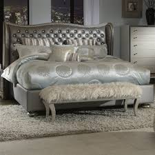Hollywood Regency Bedroom Set Amazon Com Hollywood Swank Eastern King Graphite Leather Bed By