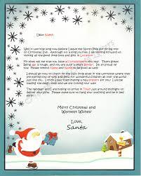 template for santa letter north pole santa letters north pole letters from santa claus personalized letter from santa claus