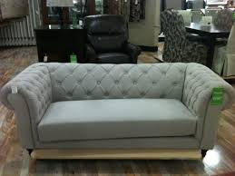 Modern Tufted Leather Sofa by Sofas Center Dark Grey Modern Tufted Sofa With Wooden Frame For