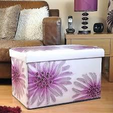Purple Storage Ottoman Purple Storage Ottoman Flowers Sgmun Club