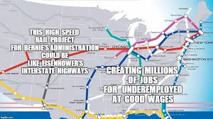 chicago map meme image tagged in map bernie sanders high speed rail