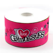 75mm grosgrain ribbon i gymnastics printed ribbon handmade