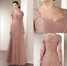elegant mother of the bride dress applique short sleeve lace