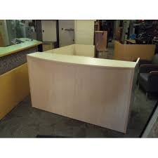 Reception Desk With Transaction Counter Reception Desk W Bow Front Transaction Counter Allsold Ca