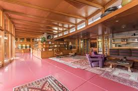 incredible frank lloyd wright house with 15 acres and waterfall