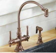 copper kitchen faucet copper two basin home faucets ebay