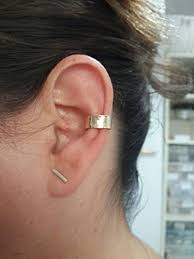 ear cuffs for pierced ears sterling silver ear cuffs for non pierced ears adjustable hammered