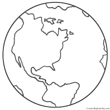 planet earth coloring page earth day