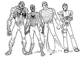 printable coloring sheets spiderman 3 kids coloring point