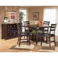 Ashley Furniture Bar Stools Ashley Furniture Signature Design - Hyland counter height dining room table with 4 24 barstools