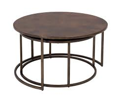 copper top nesting coffee tables weir u0027s furniture