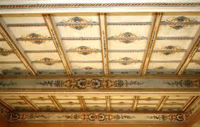soffitti dipinti foto restauro soffitto a cassettoni 1700 dipinto di intaglio e