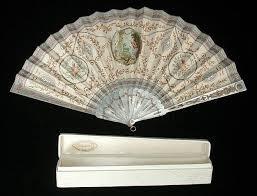 silk fan painted silk fan 1905 1915 manufacturer duvelleroy silk