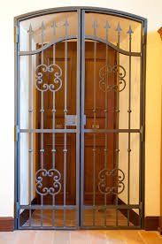 decoration stunning wrought iron doors design with carving