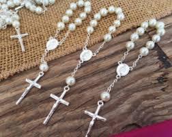 Crystal Baptism Favors Mini Rosary Favor Sets Girls Baptism Favor Christening