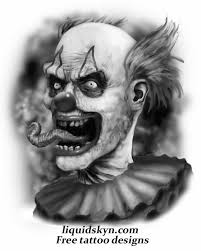 collection of 25 evil clown skull designs