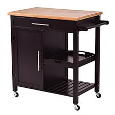 kitchen island trolley amazon com giantex rolling wood kitchen island trolley cart bamboo