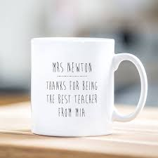personalised teacher mug owl design by able labels
