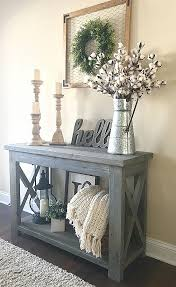 rustic x console table entryway bench and mirror new modified ana whites rustic x console