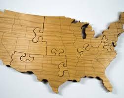 us map puzzle wood united states puzzle etsy