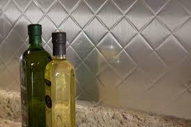 Peel And Stick Metal Backsplash by Metal Quilted Backsplash Or Metal Tiles Kitchen Backsplash