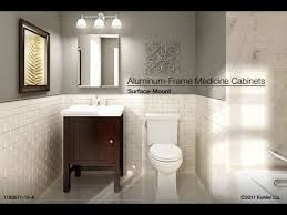 Kohler Bathroom Furniture Installation Surface Mount Aluminum Frame Medicine Cabinets
