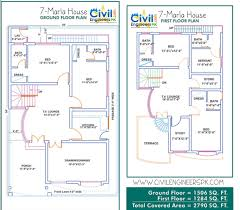 7 Bedroom Floor Plans Marla House Plans Civil Engineers Pk Pictures Naksha In 7 Bedroom