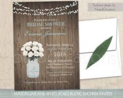 Mason Jar Bridal Shower Invitations Mason Jar Bridal Shower Invitations Rustic Wedding Shower