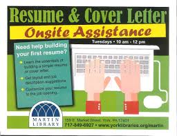 How To Write A Resume For First Job Martin York York Libraries