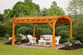 cozy arch wood pergola u2013 kit build on site backyard escapes