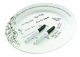 signable wedding platters lillian wedding guest book alternative ceramic
