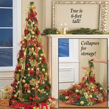 collapsible christmas tree collapsible pop up christmas tree 6 ft from collections etc
