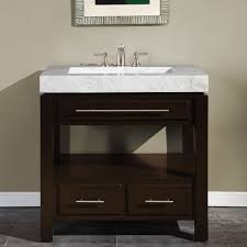 Furniture Bathroom Vanities by Amazon Com Silkroad Exclusive Dark Walnut Marble Stone Top Sink