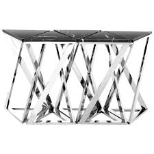 Stainless Steel Sofa Table Eichholtz Galaxy Console Table Polished Stainless Steel Set Of 5