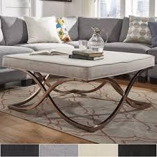 Square Ottoman Coffee Table Solene X Base Square Ottoman Coffee Table Chrome By Inspire Q