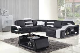 modern black and white leather sectional sofa divani casa t356 modern black white bonded leather sectional sofa