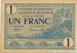 chambre de commerce chateauroux 1 franc régionalisme et divers chateauroux 1920 jp 046 26