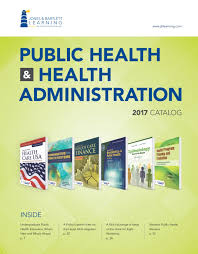 2017 public health u0026 health administration catalog by jones