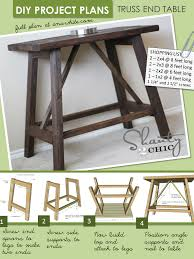 Wood End Table Plans Free by Ana White Truss End Table Diy Projects