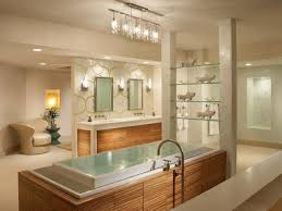 15 bathroom lighting ideas blue and yellow accent bath tub with