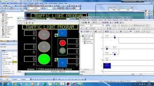 traffic light program plc