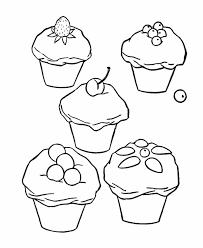 design cupcake wedding coloring sheet