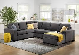 leons furniture kitchener danielle 3 sectional with right facing corner wedge grey