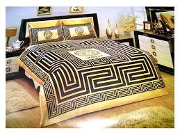 Gucci Bed Comforter Versace Bed Versace Bedding Set Satin Medusa Duvet Set Black
