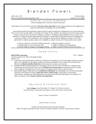 Criminal Justice Resume Examples Boston Resume Samples Strong Resumes Win Interviews