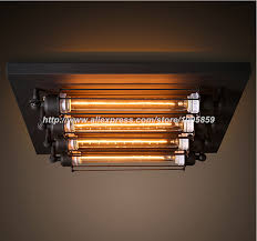 Square Ceiling Light Fixture by Aliexpress Com Buy Modern Industrial Loft Style Dining Room