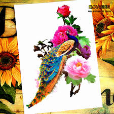 compare prices on peacock temporary tattoo online shopping buy