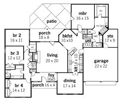 one house plans with 4 bedrooms one 4 bedroom house floor plans webbkyrkan com