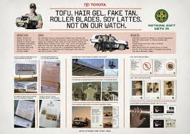 car ads in magazines toyota ambient advert by saatchi u0026 saatchi nothing soft gets in