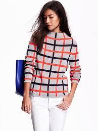 Plaid Cardigan Womens Women U0027s Plaid Mock Neck Sweater Product Image My Lola Wish List